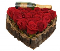 Coração De Rosas Com Chadon